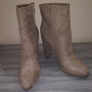 JUSTFAB MAN-MADE SUEDE BOOTS